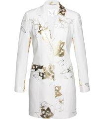 blazer lungo fantasia (bianco) - bpc selection