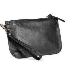 bolsa de mão mantoan  couro alça removível conforto preta - kanui