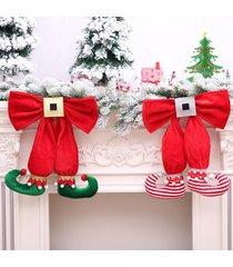decoración del árbol de navidad primeros ornamento de navidad colgante de zapatos de santa muñeco de nieve del sombrero - rojo