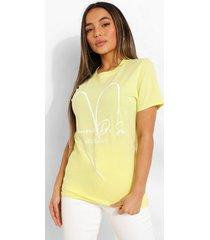 petite self love t-shirt, yellow