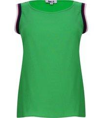 blusa manga sisa con resorte color verde, talla 12