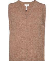 objthess s/l knit waistcoat vests knitted vests brun object