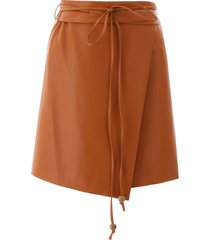 nanushka faux leather sekoya skirt