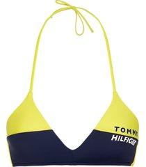 tommy hilfiger triangle bikini top - geel