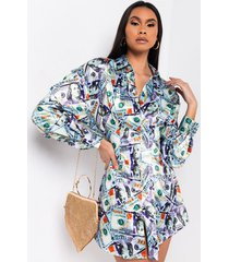 akira money honey long sleeve mini dress