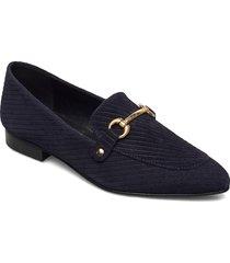 biabrenda suede loafer loafers låga skor blå bianco