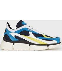 j lindeberg sane runner-mixed fabric sneakers blue