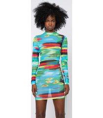 akira colors of the wind side lace up long sleeve mini dress
