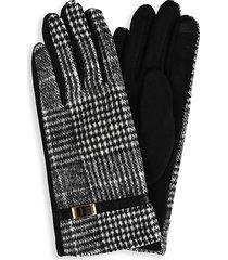 marcus adler women's the elizabeth plaid-print gloves - black