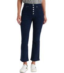 lucky brand bridgette high rise flare capri jeans
