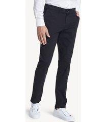 tommy hilfiger men's slim fit essential comfort stretch chino deep black - 31/34