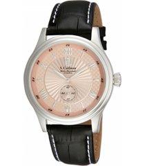 reloj s.coifman sc0293 negro cuero hombre