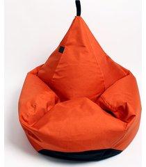 puf tipi spa pomarańczowy melanż o fakturze lnu.