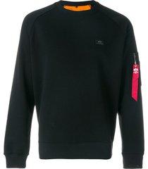 alpha industries pocket detail sweatshirt - black