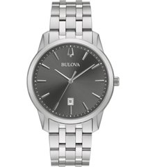 bulova men's classic sutton stainless steel bracelet bracelet watch 40mm