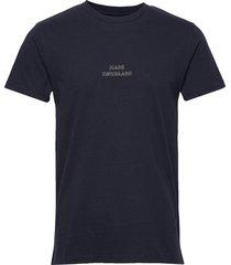 dusty thor emb t-shirts short-sleeved blå mads nørgaard