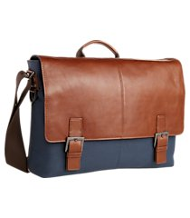 jos. a. bank leather & canvas shoulder bag clearance