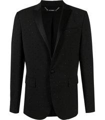 les hommes rhinestone-embellished blazer - black
