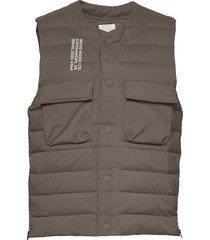 kelvin light padded vest vest groen wood wood