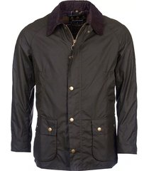 jacket waxée ashby fluwelen kraag en tartan interieur