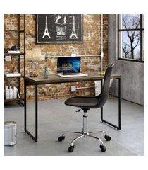mesa de escritório studio marrom escuro 120 cm