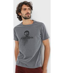 camiseta john john casual cinza