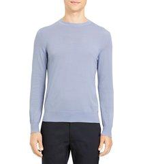 theory men's crewneck wool sweater - frost - size xxl