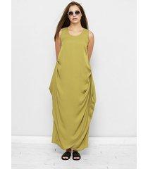 oliwkowa sukienka oversize celia