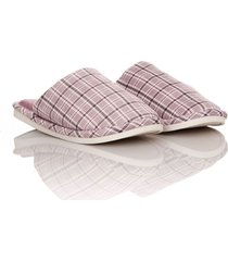 slippers furry squares thm mujer morado