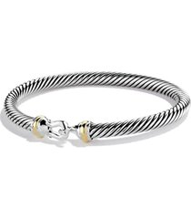 david yurman cable classic buckle bracelet with 18k gold, 5mm, size x-small in two tone at nordstrom