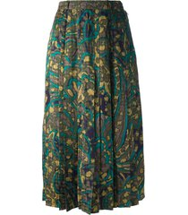 jean louis scherrer pre-owned abstract floral print skirt -