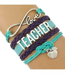 teachers infinity love sports team bracelets wrap cord bracelet