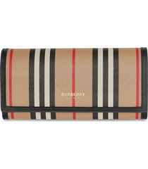 burberry icon stripe continental wallet - neutrals