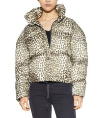 apparis jackie leopard-print puffer coat