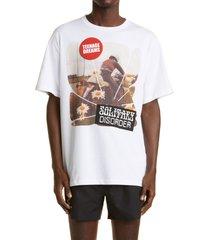 men's raf simons teenage dreams oversize cotton tee, size medium - white