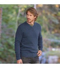sundance catalog men's ovik v-neck sweater in dark gray small