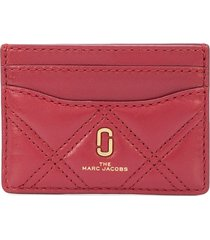 marc jacobs the quilted softshot card case - red