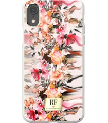 richmond & finch marble flower case for iphone xr