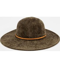 susanne knotted band floppy hat in olive - olive