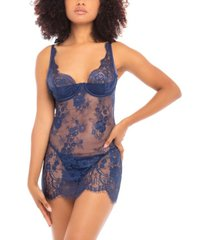 women's all over lace fitted babydoll lingerie chemise