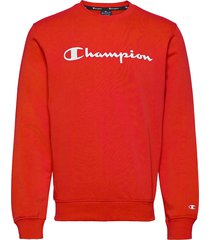 crewneck sweatshirt sweat-shirt tröja röd champion