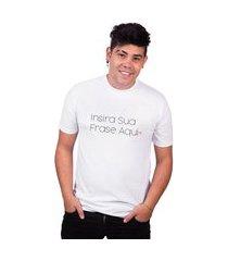 camiseta masculina insira sua frase aqui tshirt algodão basica camisa preço baixo