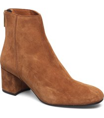 mei cappuccino suede shoes boots ankle boots ankle boots with heel brun atp atelier