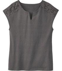 shirt met kant, zilver 34