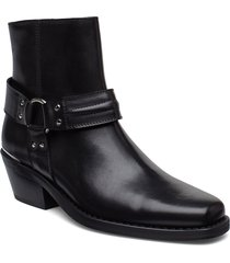 booties 3698 shoes boots ankle boots ankle boots with heel svart billi bi
