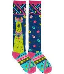 llama knee high socks