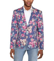 bar iii men's slim-fit floral suit separate jacket, created for macy's