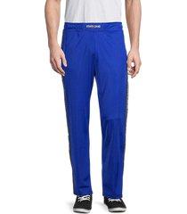 roberto cavalli sport men's logo-tape track pants - royal - size m