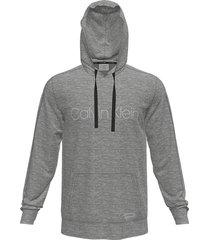 calvin klein heren hoodie grijs - pgk