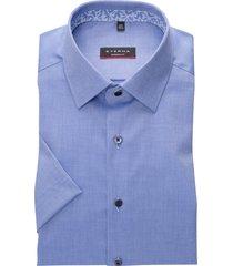 eterna shirt modern fit blauw korte mouw